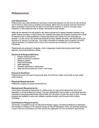 phlebotomy resume templates sample phlebotomy resume phlebotomy resume