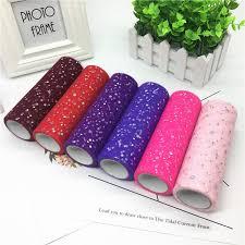 ZH <b>15cm 10</b>/25 <b>yard</b> Glitter Sequin Tulle Roll Spool Tutu Organza ...