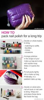 how to pack nail polish how to pack nail polish for travelling