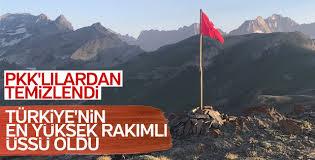 Hakkari'de Mehmetçik 3 bin 500 rakıma üs kurdu