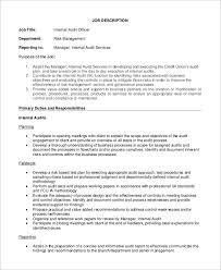 internal audit officer job description internal auditors job description