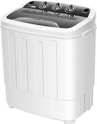 VIVOHOME Electric <b>Portable 2 in</b> 1 Twin Tub Mini Laundry Washer ...