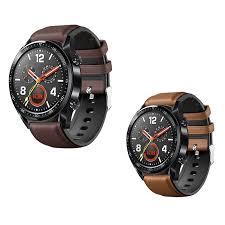 <b>Watch Strap</b> for Huawei <b>Watch</b> GT 2 46mm <b>Genuine leather Silicone</b> ...