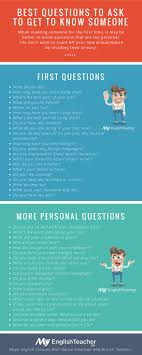 best images about work it personality types myenglishteacher eu what are the best questions to ask to get to know someone this infographic could be a fun speaking listening exercise for a pair
