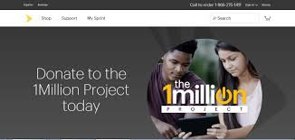Sprint     s  Million Project Online Donation Site Now Available to