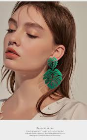 BICUX Statement Big Leaf Drop <b>Earrings</b> 2019 for <b>Women Fashion</b> ...