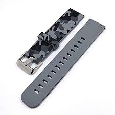 Adallor <b>18 20</b> 22 mm <b>Silicone</b> Watch Strap for Men and Women ...