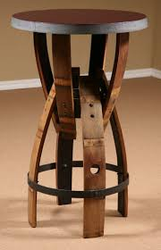 table bar height chairs diy: wine barrel furniture wine barrel stave furniture bar height table stave stool