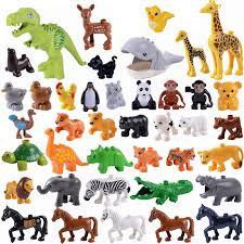 Duplo Animals Panda Monkey <b>Elephant</b> Tiger <b>Dinosaur</b> Locking ...