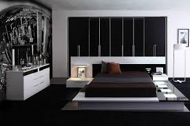 impera modern contemporary lacquer platform bed bedroom furniture black and white