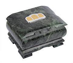 Ковчежец для хранения святынь из натурального камня <b>змеевик</b>