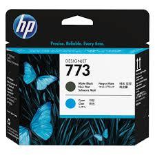 <b>HP 773</b> Matte Black and <b>Cyan</b> Printhead   C1Q20A