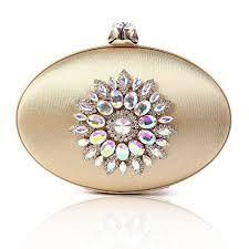 Chichitop <b>Womens Vintage</b> Floral <b>Crystal</b> Oval <b>Large</b> Evening ...