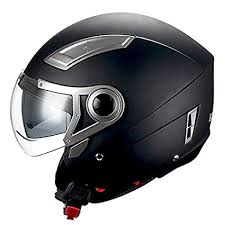 1storm <b>motorcycle open</b> face <b>helmet scooter bike</b> dual lens/sun visor