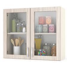 <b>Шкаф</b>-витрина <b>Мебельный Двор</b> навесной кухонный 80 см. Мери ...