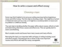 how to start a cause and effect essay examples   reportwebfccom how to start a cause and effect essay examples