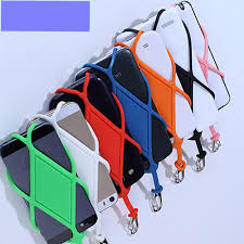 <b>Universal Silicone Cell Phone</b> Lanyard Holder Case Cover Phone ...
