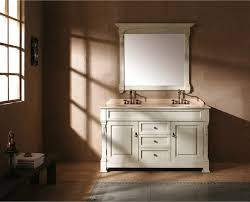 traditional style antique white bathroom: stunning antique white bathroom vanities james martin quot bosco antique white double vanity traditional