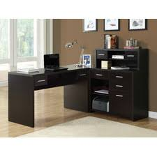Covey Home Office LShaped Computer Desk With Hutch  Wayfaircom