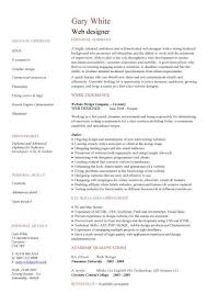 web designer cv template web design resume example