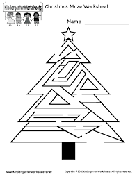 Christmas Maze Worksheet - Free Kindergarten Holiday Worksheet for ...Kindergarten Christmas Maze Worksheet Printable