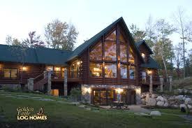 Featured Homes   Log Homes orgGolden Eagle Log Homes   Lakehouse AL   Lake Side Exterior   View