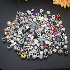 <b>10pcs</b>/<b>lot</b> Randomly mixed Color & Style <b>Big</b> Hole <b>crystal</b> Enamel ...