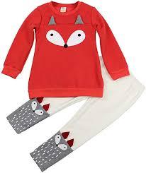 Jastore Baby Girl 2PCS Cartoon Fox Clothing Set ... - Amazon.com