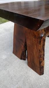 wood slab dining table beautiful: custom made black walnut live edge wood slab dining table