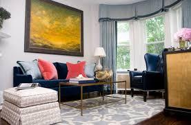 blue velvet sofa blue couch living room ideas