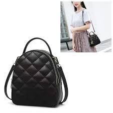 Fashion Rhombus Texture PU Leather <b>Single Shoulder School Bag</b> ...