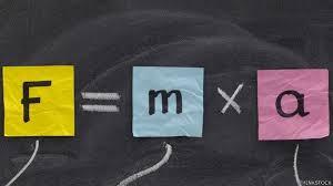 Resultado de imagen de formula fuerza es igual a masa por aceleracion