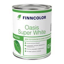 <b>Краска</b> в/<b>д</b> для <b>потолка Finncolor</b> Oasis Super White (0,9 л) купить ...