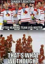 Canada VS USA Winter Olympics Meme via Relatably.com