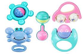 Buy Funny Teddy <b>Baby</b> Rattles Set - <b>5 pc</b> | <b>Teether</b>, Shaker, Grab ...