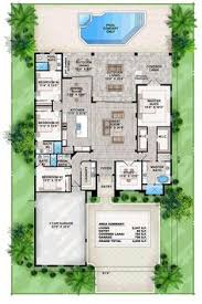ideas about Contemporary House Plans on Pinterest   House    Coastal Contemporary Florida Mediterranean House Plan Level One