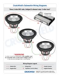 subwoofer wiring diagrams 3 dvc 2 ohm 2ch low imp