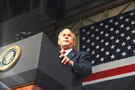 u s  department of defense  photo essay     president george w  bush addresses a crowd of more than    military personnel on eielson