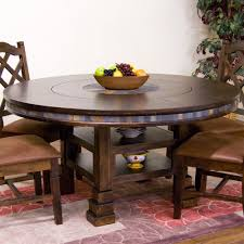 table lazy susan dining room rustic