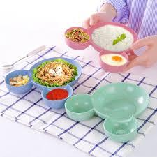 1Pcs <b>Bamboo Baby Tableware Kids</b> Divided Bowl <b>Children Baby</b> ...
