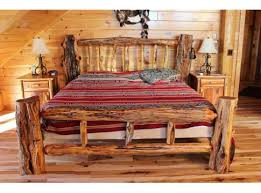 log bed frame our friends callie justin have a bed frame like this brilliant log wood bedroom
