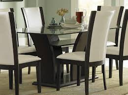 Tables Dining Room Stylish Glass Dining Room Table Home X Decor