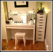 most seen images in the beautiful design of makeup desk with lights offers mesmerizing looks gallery black ikea glass top desk