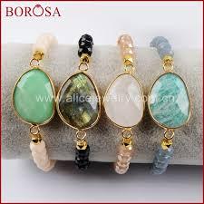 <b>BOROSA 5PCS New Gold</b> Color Labradorite White Quartz ...