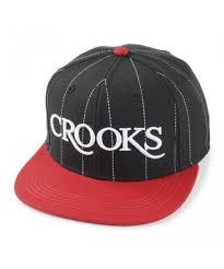 <b>Crooks</b> And <b>Castles</b> Serif <b>Crooks</b> Woven Snapback Cap Black/Red ...