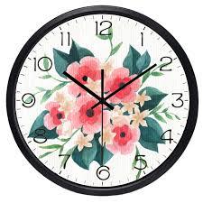 <b>Настенные часы</b> в европейском ретро стиле с цветами|flower ...