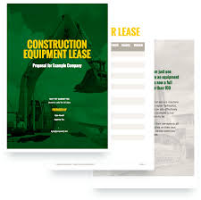 construction equipment proposal template sample construction equipment proposal template