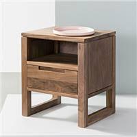 Bruno 1 Drawer Timber Bedside <b>Table</b> - Solid Oak Wood ...