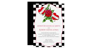 Rockabilly <b>Hearts</b> and <b>Rose Wedding Invitation</b> | Zazzle.com