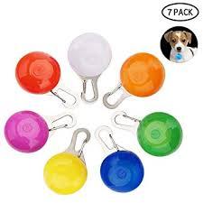 KOBWA <b>7PCS</b> Clip-On <b>Dog Cat Pet</b> Collar LED Lights, LED <b>Dog</b> ...